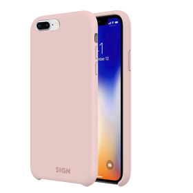SiGN SiGN Liquid Silicone iPhone 7 & 8 Plus- Pink cover - Teknikdele.dk
