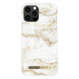 iDeal of Sweden IDeal Fashion iPhone 12/12 Pro cover- Golden Pearl Marble- - Teknikdele.dk