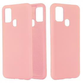 SiGN SiGN Samsung Galaxy A21s Liquid Silicone cover - Pink - Teknikdele.dk