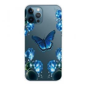 Taltech IPhone 13 Pro Max cover- Blue Butterfly - Teknikdele.dk