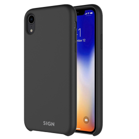 SiGN Sort SiGN Liquid Silicone iPhone X-XS cover - Teknikdele.dk
